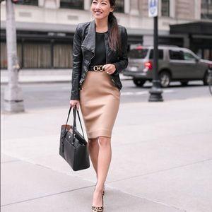 Yves Saint Laurent Tan Leather Skirt- Price Firm🧡